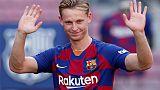 Inspired by Cruyff, De Jong keen to make mark at Barca