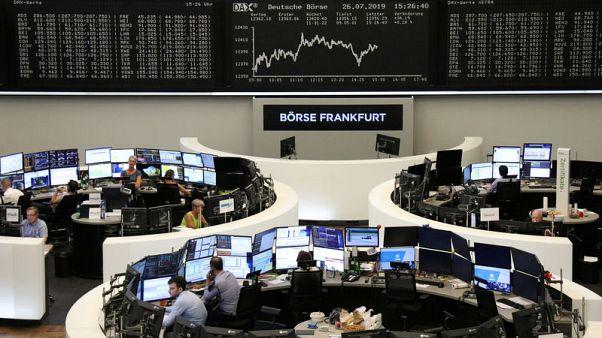 European shares edge lower as Heineken disappoints; Fed in focus