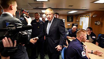 UK plays Brexit hardball with EU from submarine base, pound tumbles