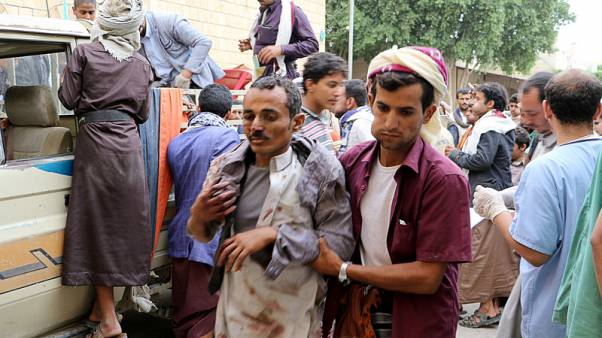 Attack on Yemen market kills more than 10, warring parties trade blame