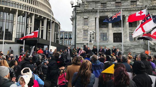 احتجاج في نيوزيلندا على إبعاد أطفال السكان الأصليين عن ذويهم