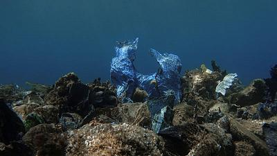 In Greece's Aegean Sea, divers find 'gulf of plastic corals'