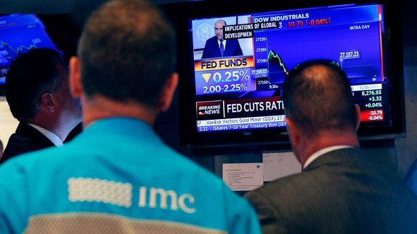 المؤشران داو جونز وستاندرد آند بورز500 في بورصة وول ستريت يسجلان أكبر هبوط منذ مايو
