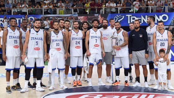 Basket: la Trentino Cup è degli azzurri