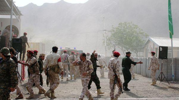 مقتل 36 في هجوم للحوثيين في عدن والسعودية تتهم إيران
