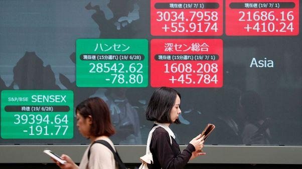 أسهم اليابان تصعد وتراجع الين يعوض خيبة الآمال بشأن المركزي الأمريكي