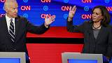 U.S. Democratic candidates Biden and Harris chafe at debate limits