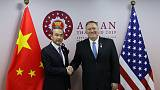 Conciliatory tone as top diplomats from United States and China meet