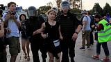 Russian police arrest five in crackdown before opposition protest