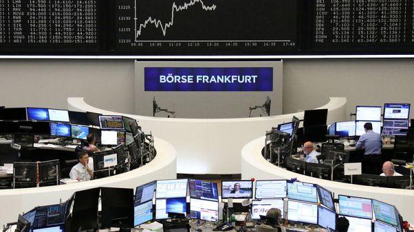 الأسهم الأوروبية تهبط صباحا بعد تهديدات ترامب التجارية