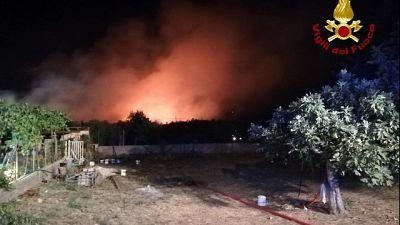 Pericolo incendi e 40 gradi in Gallura