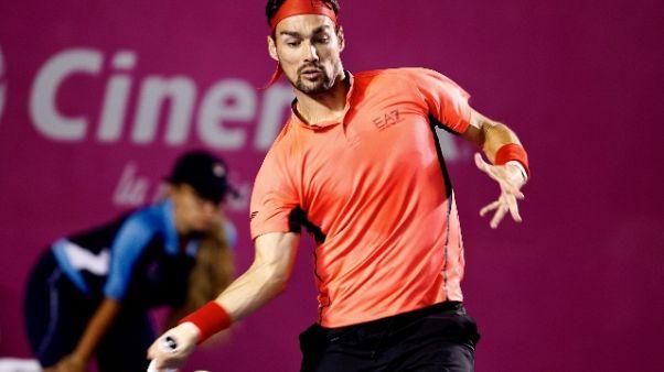 Tennis: Fognini ko, esce da top ten Atp