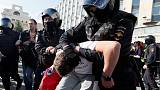 Russian police detain 600 protesters in central Moscow - monitor