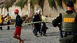 مقتل امرأة وإصابة آخرين في انهيار جرف على شاطئ بكاليفورنيا