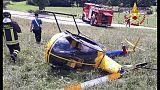 Elicottero cade in Cadore, piloti illesi
