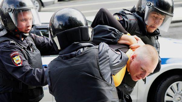 جماعة مراقبة: الشرطة الروسية تحتجز 600 محتج بوسط موسكو
