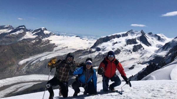 Grande Torino, omaggio in cima Breithorn