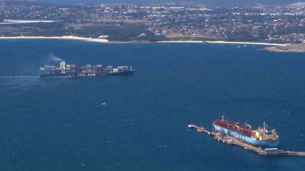 Australia's trade surplus swells to record in rare bright spot