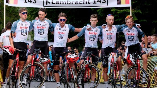 Giro Polonia si ferma per Lambrecht