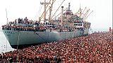 Migranti: 28 anni da sbarco Vlora a Bari