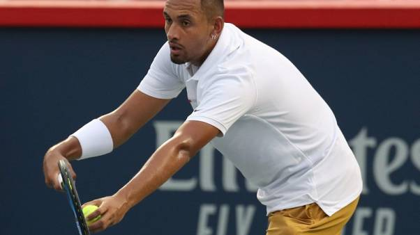 Kyrgios reverts to type with towel tantrum in Montreal