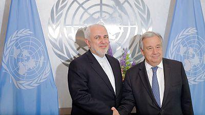 إيران تطلب من جوتيريش التصدي للعقوبات الأمريكية على ظريف