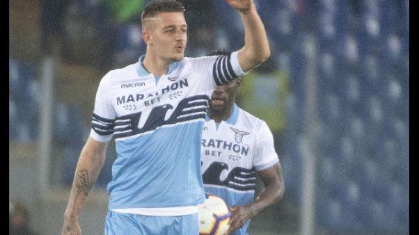 Lazio: 5-1 in amichevole,Milinkovic-stop