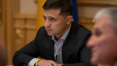 Ukraine's Zelenskiy says spoke to Macron about meeting on Donbass conflict