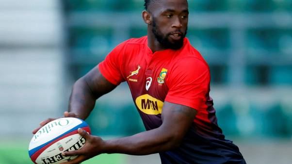 South Africa's Kolisi back from injury to boost World Cup prospects