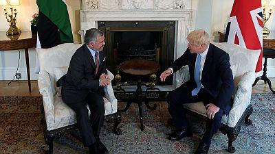 Johnson welcomes economic reforms in talks with Jordan's King Abdullah