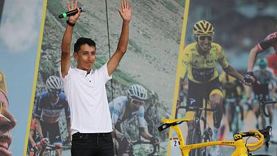 Tour de France winner Bernal gets hero's welcome in hometown