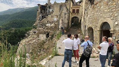 Terremoto, Gelmini e Bernini ad Arquata