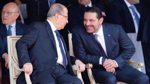رئيس وزراء لبنان يقول إنه أكثر تفاؤلا بعد محادثات مع عون