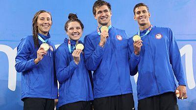 U.S. makes splash in pool to get past 200 medals at Pan Ams