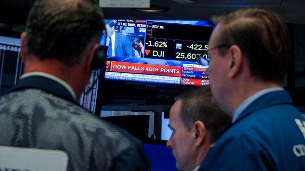 وول ستريت تفتح منخفضة بسبب مخاوف التجارة
