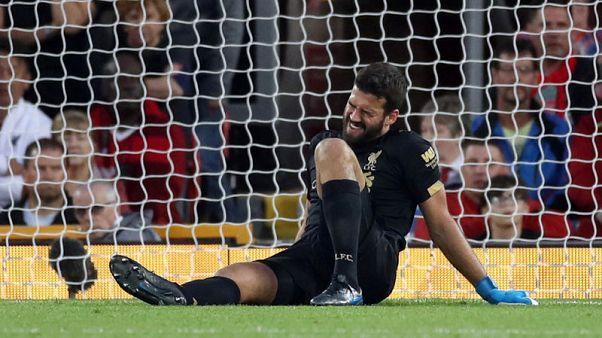 إصابة أليسون حارس ليفربول في المباراة الافتتاحية للموسم