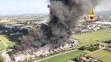 Incendio Faenza è sotto controllo
