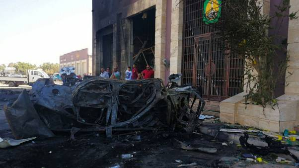 Car bomb explodes in Libya's Benghazi, killing two U.N. staff - medics