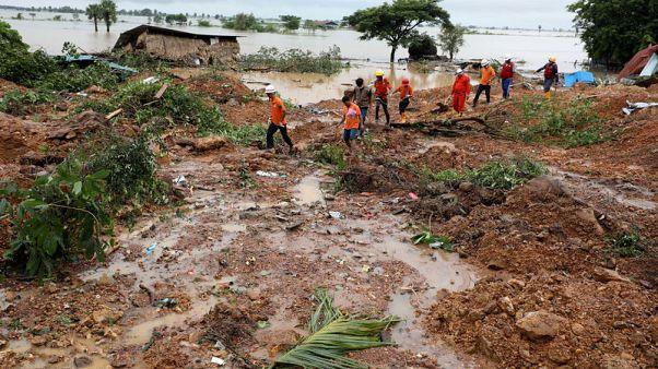 ارتفاع عدد قتلى انهيار أرضي في ميانمار إلى 32 قتيلا على الأقل
