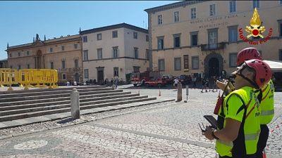 Drone per caduta pezzo duomo Orvieto