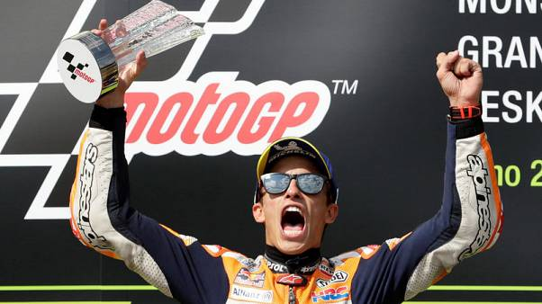 MotoGP leader Marquez takes record 59th pole in Austria