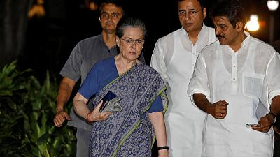 Sonia Gandhi returns to lead India's beleaguered Congress after son Rahul quits