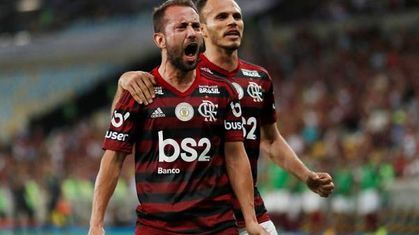 Flamengo win to close gap with Santos at top of Serie A