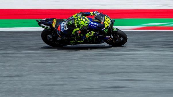 MotoGp Austria, Rossi 2/o nel Warm Up