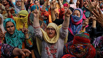 Hundreds chant anti-India slogans in seething Kashmir on eve of Eid