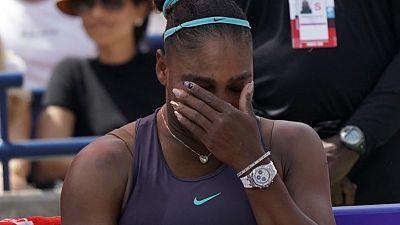سيرينا تبكي قبل الانسحاب أمام أندريسكو في نهائي تورونتو