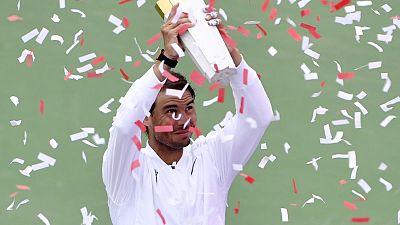 نادال يسحق ميدفيديف ويحتفظ بلقب البطولة في مونتريال