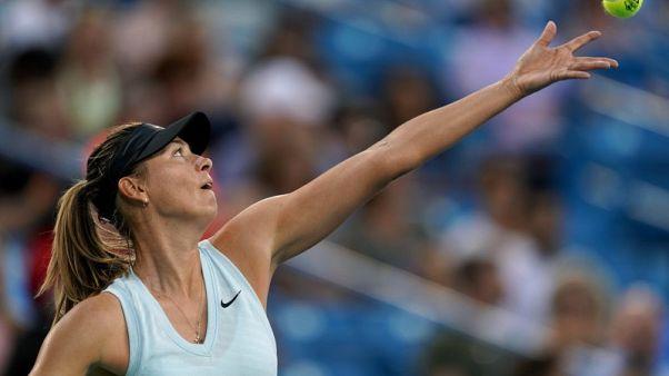 Sharapova win sets up Barty battle in Cincinnati