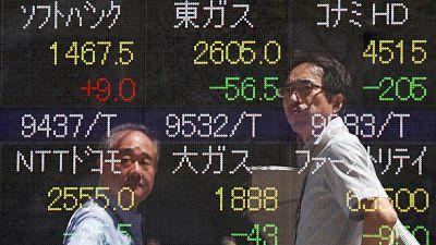 أسهم اليابان تنزل لأدنى مستوى في أسبوع بفعل مخاطر السياسة العالمية وارتفاع الين