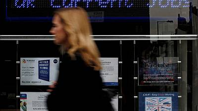 UK jobs market shines, but clouds on horizon